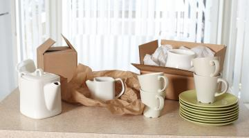 Sparta Calgary Movers pack fragile kitchen items